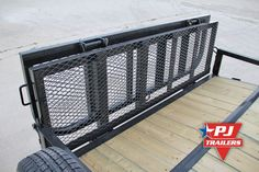 One of the hottest utility trailer options is our bi-fold gate. This gate is hinged in the center, allowing the gate to be folded in half. This greatly reduces the wing drag of the gate, which in… -Watch Free Latest Movies Online on Trailer Ramps, Welding Trailer, Atv Trailers, Trailer Diy, Flatbed Trailer, Small Trailer, Trailer Plans, Trailer Build, Trailer Remodel