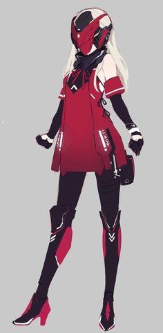 Cyberpunk Anime, Cyberpunk Girl, Arte Cyberpunk, Mecha Anime, Female Character Design, Character Design References, Character Design Inspiration, Character Concept, Character Art