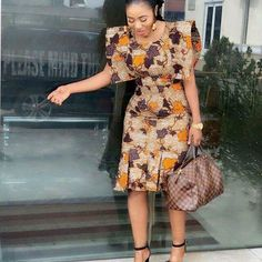 Different Ankara fashion styles, look gorgeous - Reny styles African Dresses For Kids, Latest African Fashion Dresses, African Dresses For Women, African Print Fashion, Africa Fashion, African Attire, Ankara Fashion, Modern African Dresses, Latest Fashion