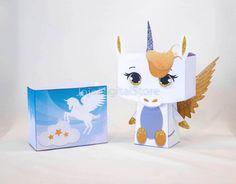 Golden Pegasus Unicorn Favor Box for Unicorn whimsical Party