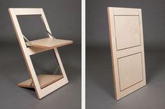Super Simple Flat-Pack Idea to Reinvent the Folding Chair via dornob.com