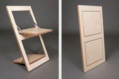 Super Simple Flat-Pack Idea to Reinvent the Folding Chair via dornob.com