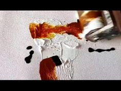 EASY / Abstract painting / Brayer / Palette knife / Brush and Acrylics / Demonstration - YouTube