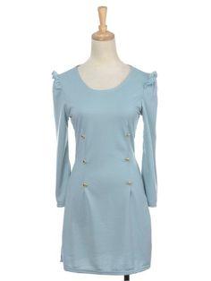 Anna-Kaci S/M Fit Light Blue Long Sleeve Conservative « Impulse Clothes