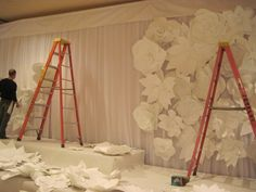 If you're arty how about decorating your venue in paper flowers? This would be a brilliant photo backdrop.