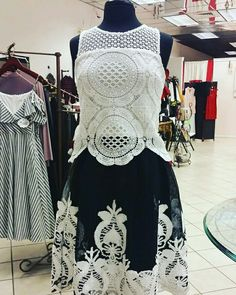 Look fabulous and stunning in one of our black and white lace dress, a classy style that never goes out of fashion. Stop by the boutique today or call to reserve this stunning dress at Filetta's Couture Boutique #lacedress #blackandwhitedress #dress #classydress #localboutique #towncenterofauroramall