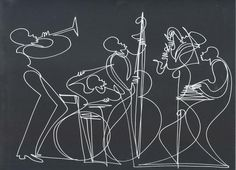 one-line drawing - so cool, i wish i could do something like this!