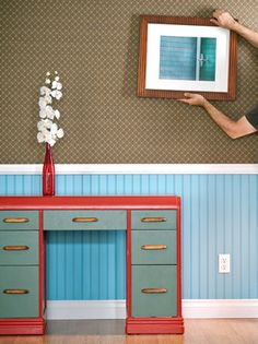 Tips for Hanging Pictures | DIY Network - And don't forget to use DOT Marks the Spot to hang everything right the first time!