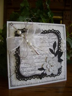 French Beaded Wedding Card by stampin'nana - Cards and Paper Crafts at Splitcoaststampers