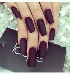 cute, dark, maroon, nails, pretty