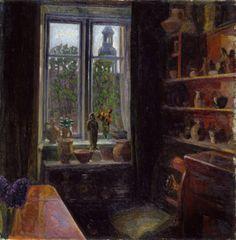 Interior from Copenhagen  -  Thorvald Erichsen  1900  Norwegian   1868-1939  Oil on canvas