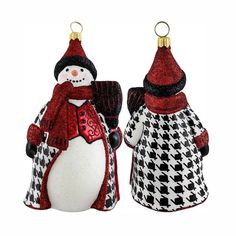 Our collectible Glitterazzi Houndstooth Snowman Ornament from Joy to the World was created with the utmost attention to quality and detail. The finest artisans in Poland individually mouth blow and hand paint each ornament, achieving new levels of innovation and artistic integrity in their designs. Using only traditional old world production methods and materials sourced from European countries, they ensure that each ornament is an impressive work of art that will be treasured for...