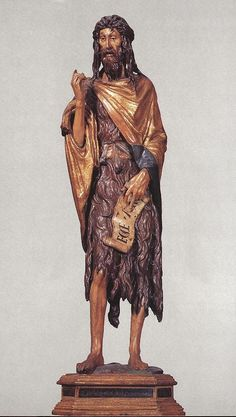 St. John the Baptist - Donatello.  1438.  Wood.  Height:  141 cm.  Santa Maria Gloriosa dei Frari, Venice, Italy.