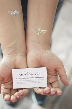 I Still Love You by Melissa Esplin: Designed: Gold and Silver Foil Bee Tattoos