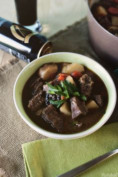 Guinness Beef Stew - I miss cooking so much!!! I would LOVE to make this!!!