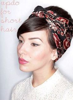 Hair Styles for Short Hair / keiko lynn _ short hair updo