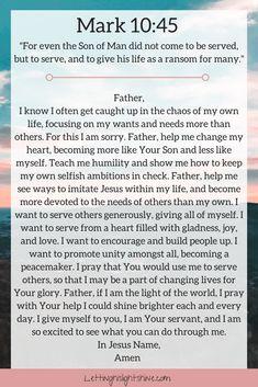 Prayer Times, Prayer Scriptures, Bible Prayers, Faith Prayer, God Prayer, Prayer Quotes, Bible Verses Quotes, Faith Quotes, Mark 10 45