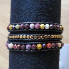 WRAP pulsera gemas y perlas de Miyuki Himalaya