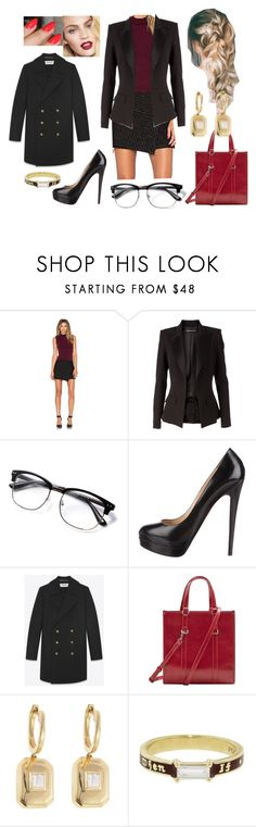 """""""Bez tytułu #19380"""" by sophies18 ❤ liked on Polyvore featuring Alice + Olivia, Alexandre Vauthier, Wes Gordon, Christian Louboutin, MANGO, Shay and Foundrae"""