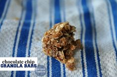 Footprints in the Sand: No-Bake Chocolate Chip Granola Bars