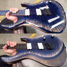 Kiesel Guitars Carvin Guitars. Guitar Painting, Guitar Art, Easy Guitar, Cool Guitar, Painted Guitars, Namm Show, Hammered Dulcimer, Steel Guitar, Kiesel