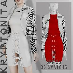 """Kryptonita Boutique on Instagram: """"💚 COLLECTION OFF WHITE 💚 LINK BIO"""" Sims 4 Clothing, Body Poses, Sims Cc, All Design, Wetsuit, Off White, Teen, Boutique, Female"""