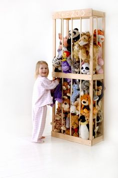 this would be awesome for all of Ty's stuffed animals!!! It has flexible bars and could be painted a cute color!