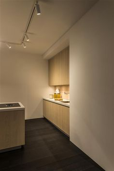 SPINA ON TRACK in textured white kitchen lighting with track system