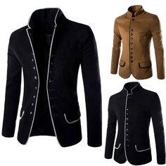 New Men's Stylish Business Casual Smart Slim Blazer Suit Jacket Coat 8746
