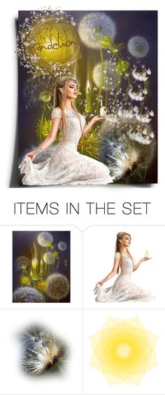 """""""dandelion flowers"""" by georgine-d ❤ liked on Polyvore featuring art"""