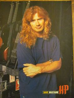 Megadeth, Dave Mustaine, Full Page Vintage Pinup