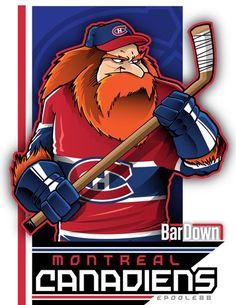 The Montreal Canadiens. Hockey Rules, Hockey Logos, Nhl Logos, Sports Team Logos, Hockey Teams, Hockey Stuff, Montreal Canadiens, Creative Logo, Dek Hockey