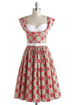 Adorible'!!! Amour and More Dress in Plaid, #ModCloth