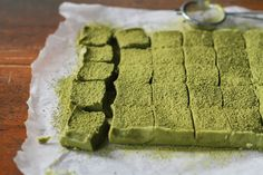 Getting a sweet fix with some Homemade Matcha Nama Chocolate