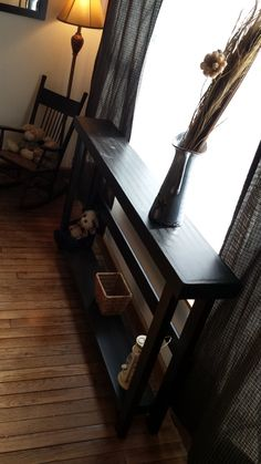 Beautiful Black Stained 5-Foot SOFA Table by UniquePrimtiques