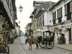 Vigan, Ilocos Norte, Philippines... One of the older area during Spanish regime--- been here!