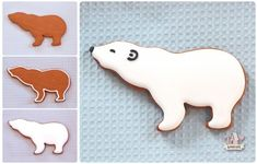 Polar Bear Decorated Cookies | Sweetopia