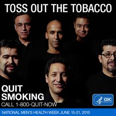 It's never too late to quit smoking. Quitting smoking has immediate and long-term benefits. It improves your health and lowers your risk of heart disease, cancer, lung disease, and other smoking-related illnesses. Share this post if there's a man in your life who could benefit from quitting smoking.