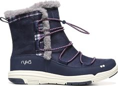 Ryka Women's Shoes in Blue Color. Cabin chic meets cozy comfort with the Aubonne sneaker boot from Ryka.