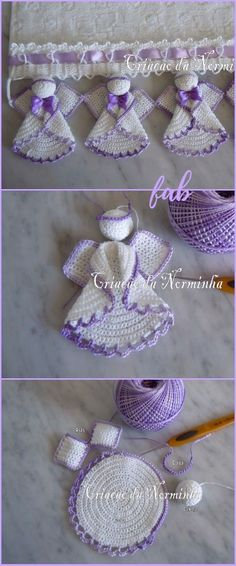 White Christmas in thread crochet Holly free crochet patternHolly free crochet pattern crochet socks knitting knitting knitting is great Crochet Circle Angel Free crochet patternsCrochet Circle Angel free patternWhite Christmas in Marque-pages Au Crochet, Crochet Angel Pattern, Crochet Angels, Crochet Patterns Amigurumi, Thread Crochet, Crochet Gifts, Easy Crochet, Free Crochet, Crochet Coaster