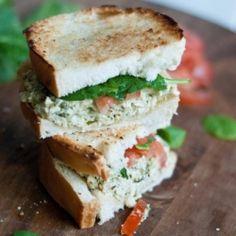 Pesto Chicken Salad Sandwich. Oh yes please!