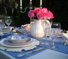 Rosemary and Thyme: Blue Birds Tablescape