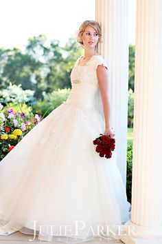One of the most beautiful modest gowns I have ever seen!