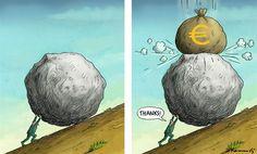 Sisyphe / Marian Kemensky - Slovakia - THE GREEK CRISIS IS OVER - English - eu cisis,greek crisis,tsipras,referendum