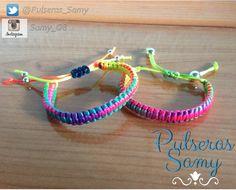 Modelo 1º- MACRAME DE COLORES Pulsera  macrame de colores hecha con hilo de cola de raton. PRECIO: 1€