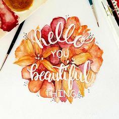 Typografie und Wasserfarben – Wohlfühlmotive von June Digan | KlonBlog
