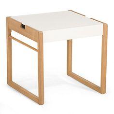 Table en acacia blanc et naturel pour enfant