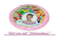 Neu! Tortenaufleger 20cm mit Dekorrahmen Zuckerpapier Geburtstag Taufe Kommunion