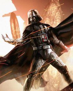 Vader in glorious battle!! #starwars #comicbookart