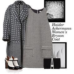 """Haider Ackermann Women's Bryson Coat"" by bodangela on Polyvore"